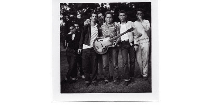 #1 - Bobby Zimmerman at Herzl camp, Larry to his left Me to Bobby's right. 1957.jpg