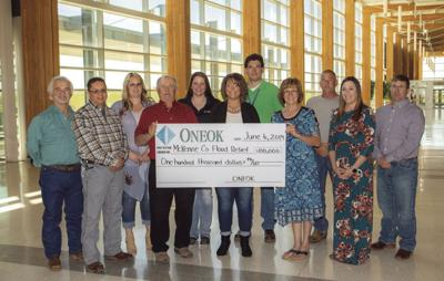 ONEOK donation 2019 to fairview Cartwright flood victims