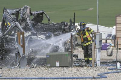 Fire damages campers at RV park outside of Williston