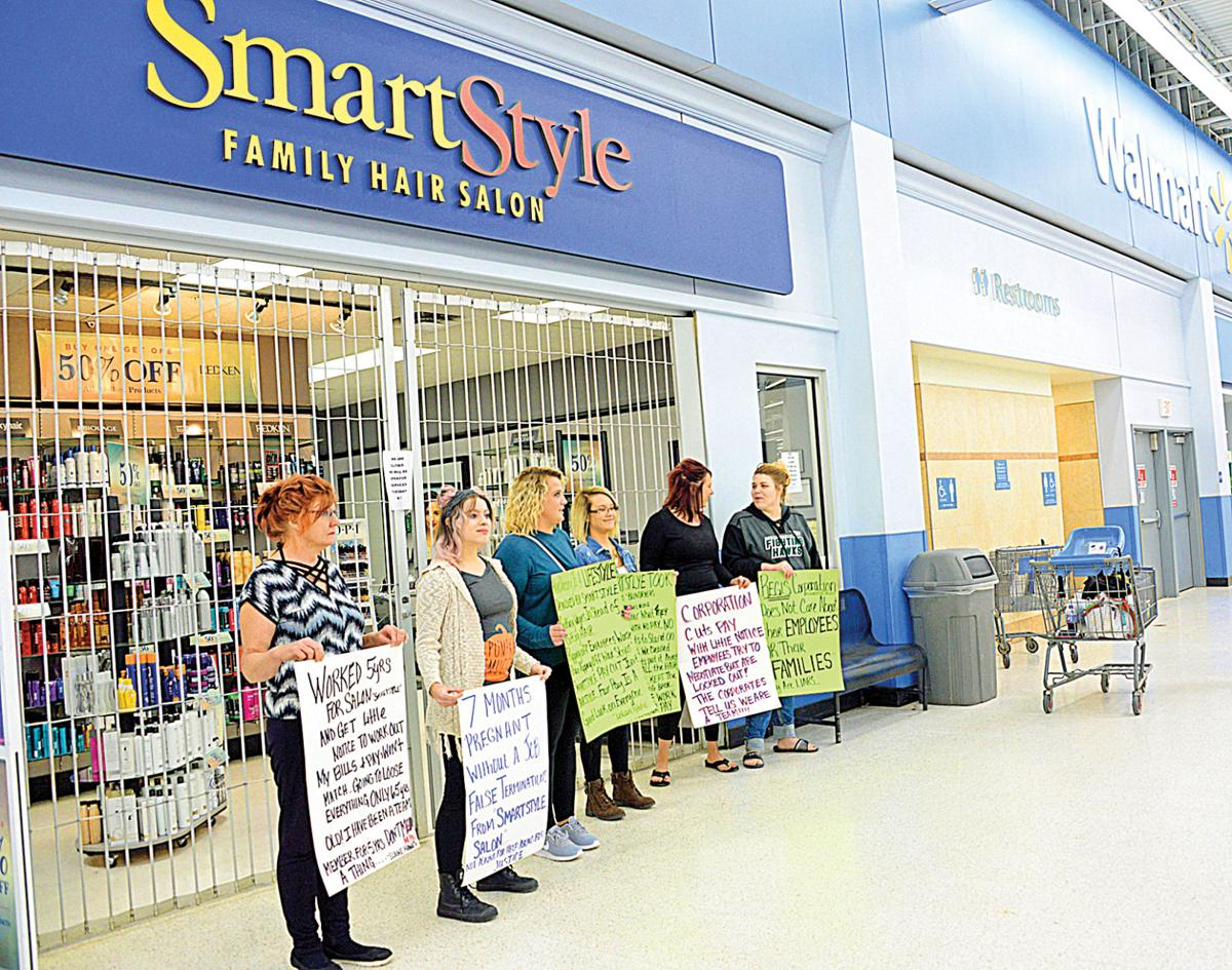 walmart smart style hair salon prices stylists protest firing workers claim unfair treatment 8635