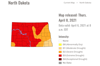 drought monitor map