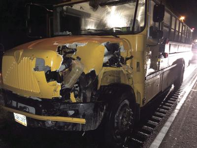 Bus carrying ND volleyball team crashes into moose