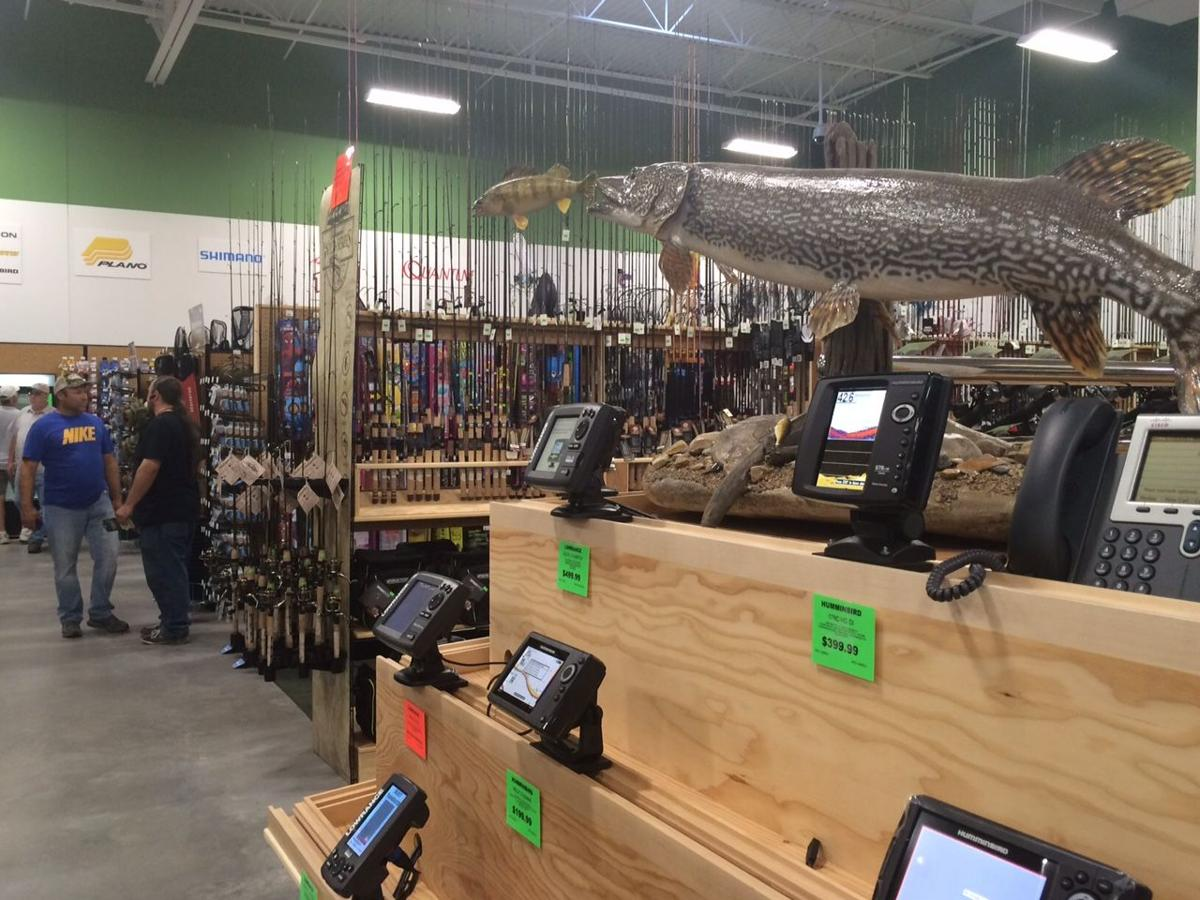 sportsman warehouse fishing willistonherald williston opening saturday grand equipment had its which