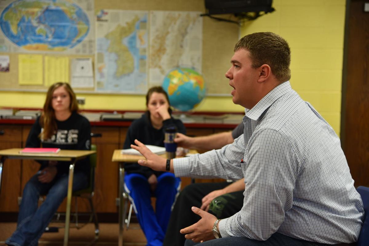 Brandon Delvo in the classroom