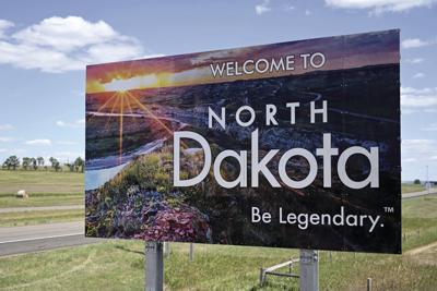 North Dakota welcome sign