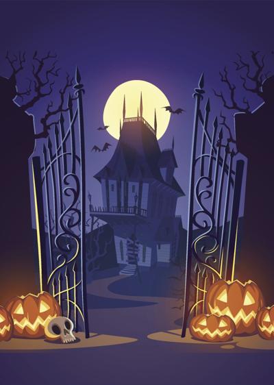 haunted house stock art