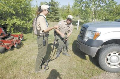 At work with: A park ranger at Lewis and Clark State Park