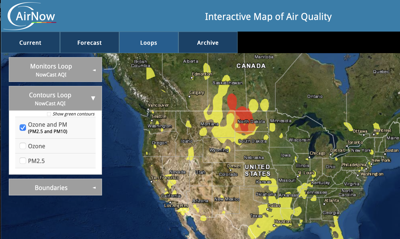 DEQ air quality map
