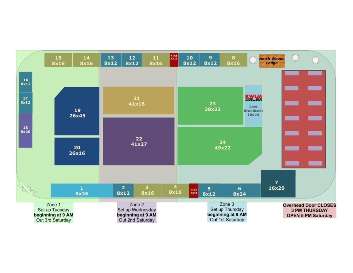 Blue Line Arena Setup Map 2021