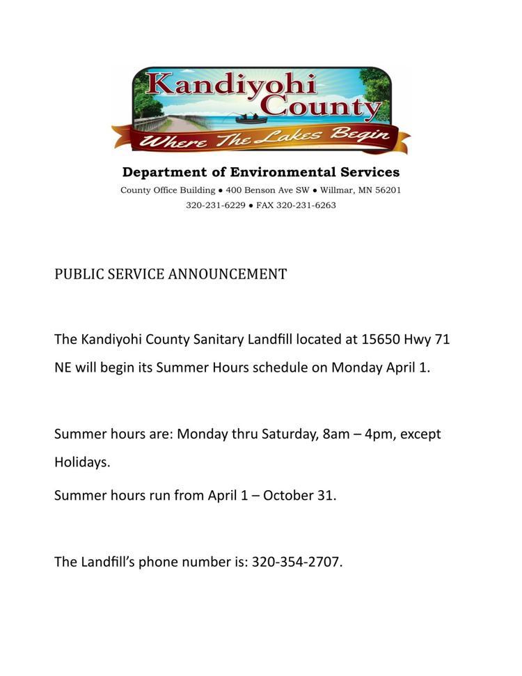 Kandiyohi County Sanitary Landfill
