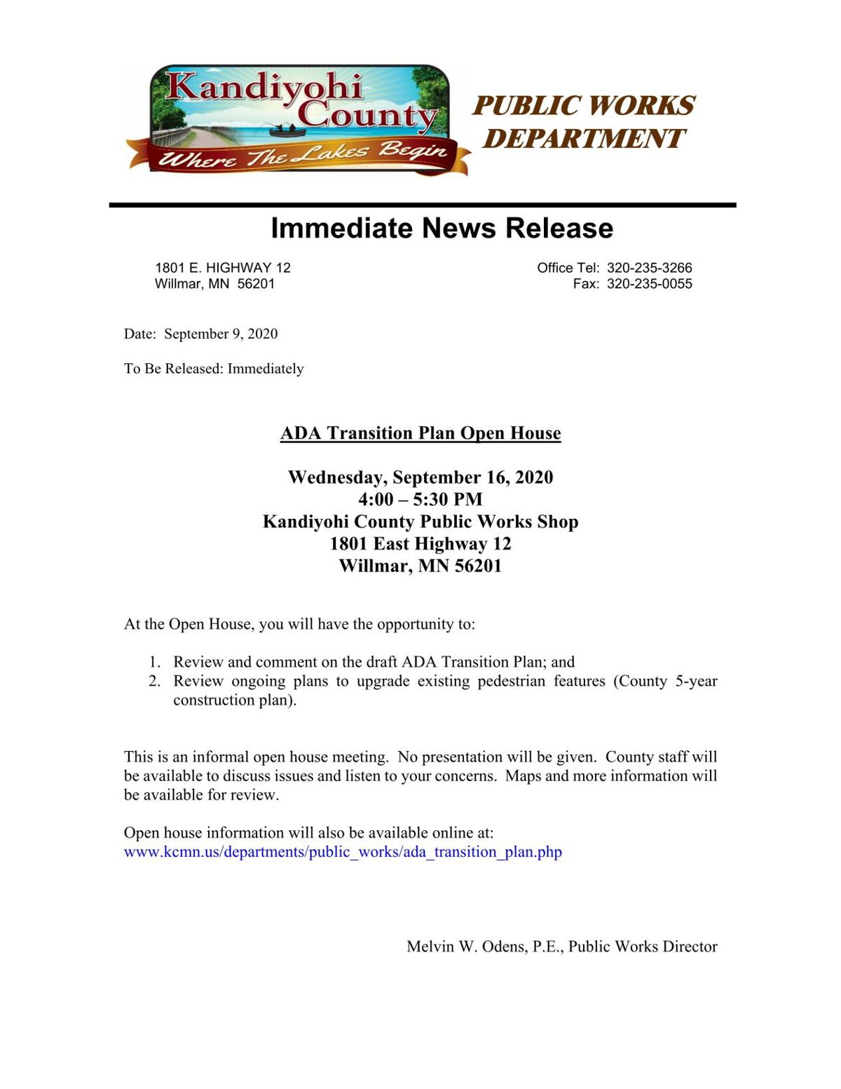 ADA Transition Plan Open House