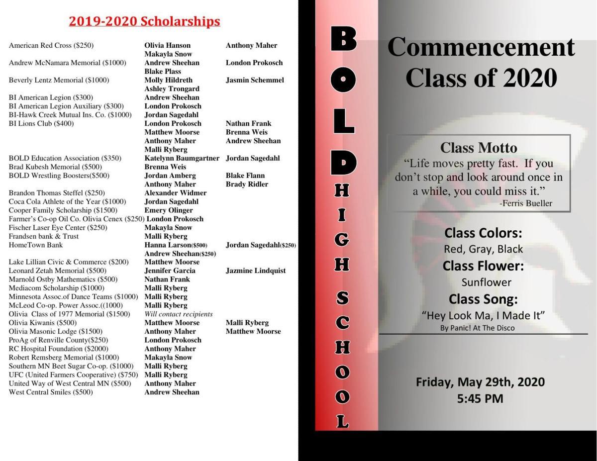BOLD 2020 Graduation Program