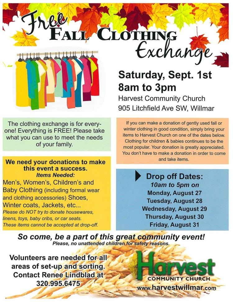 FREE Fall Clothing Exchange (donations needed) | Calendar