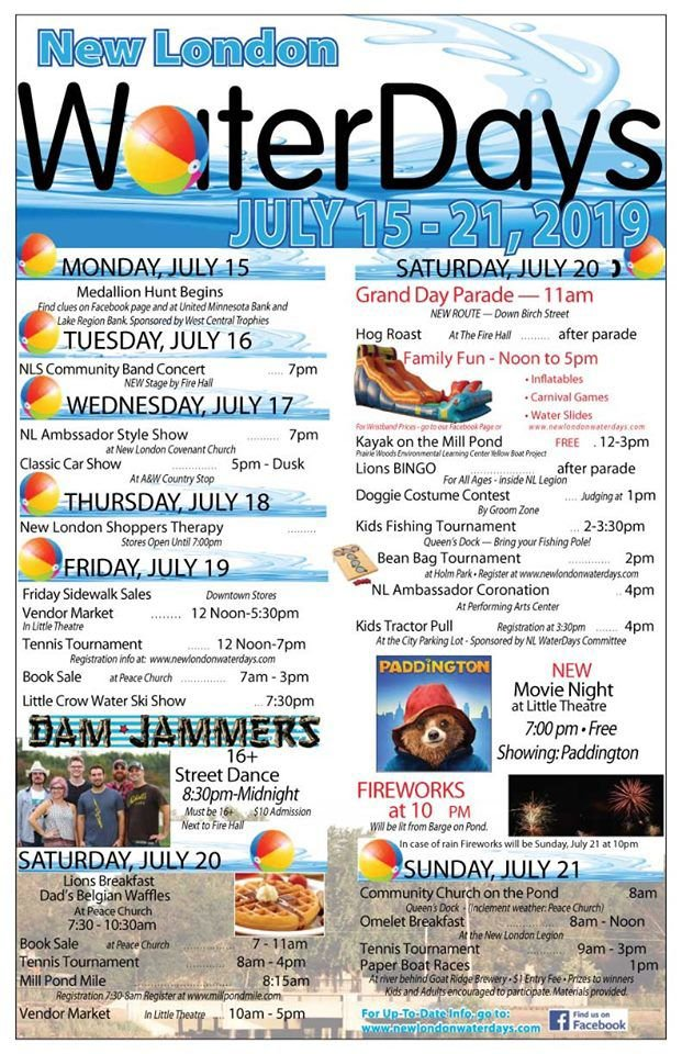 New London Water Days 2019 Schedule