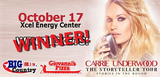 Big Country Carrie Underwood tickets winner | Contests and ...