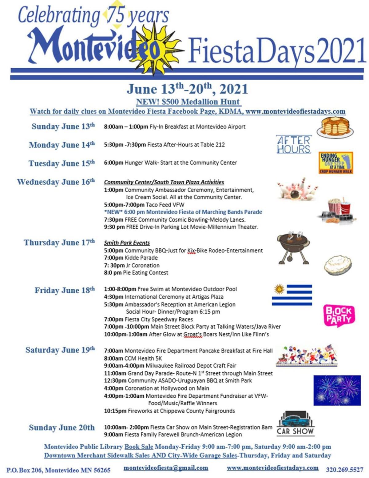 2021 Montevideo Schedule