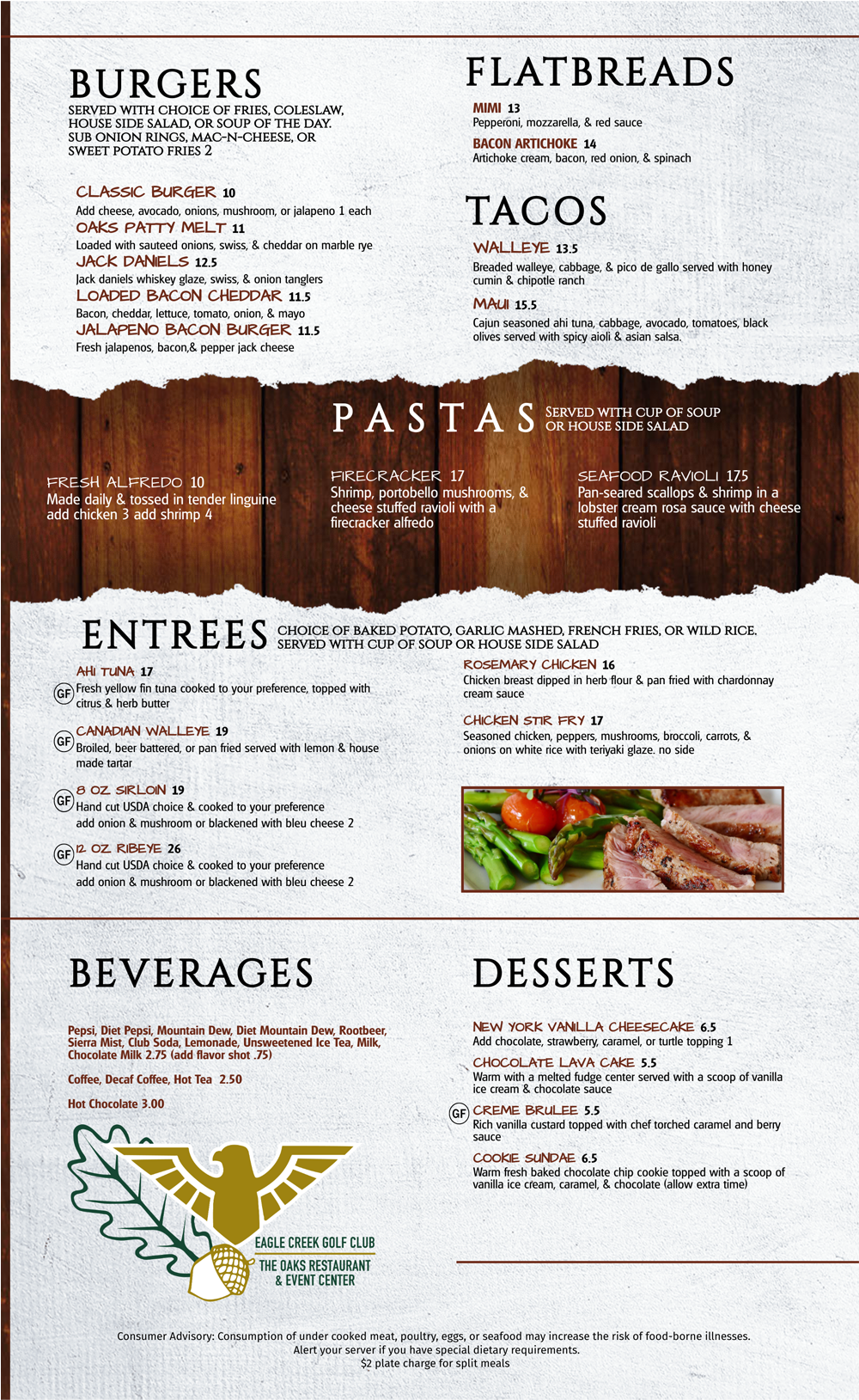 The Oaks June 2020 Menu p.2