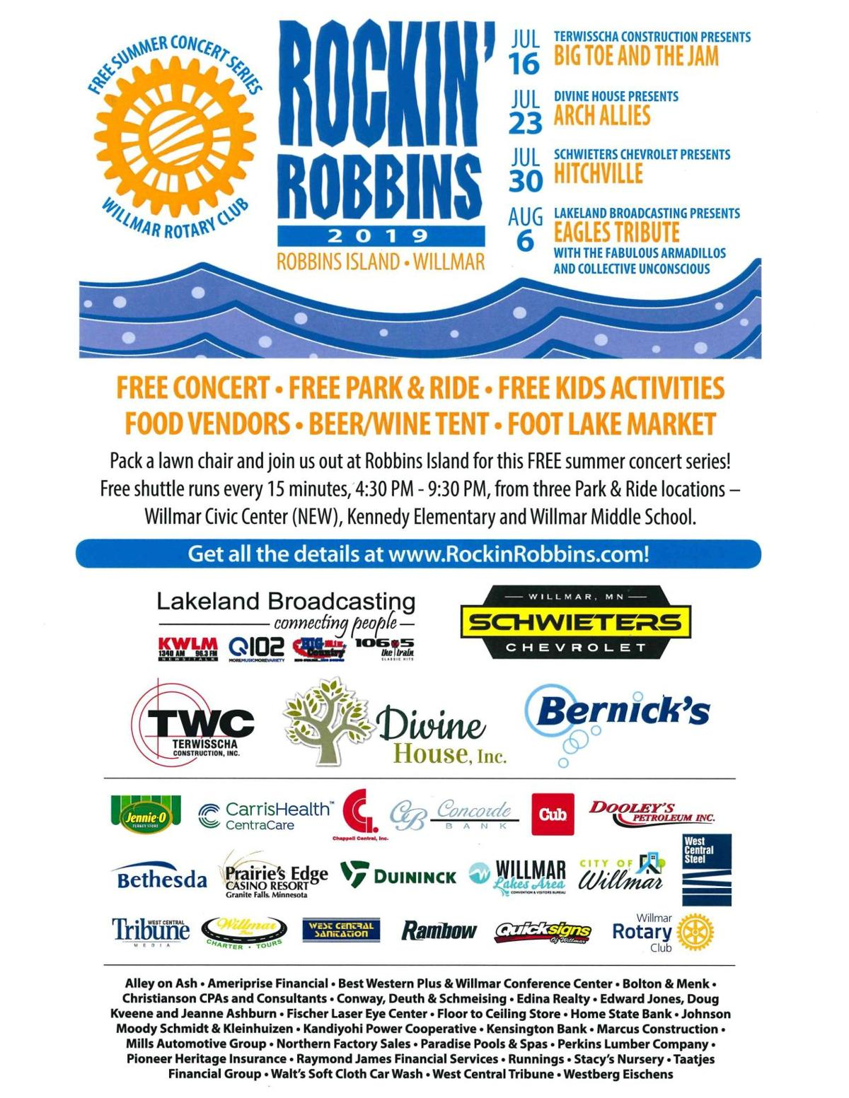 Rockin' Robbins 2019 Concert Series