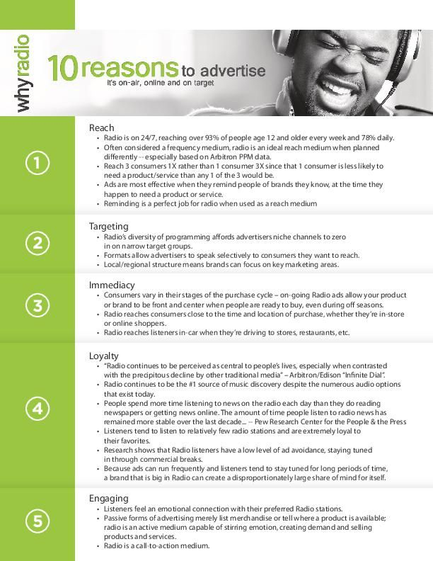 10 Reasons to Advertise