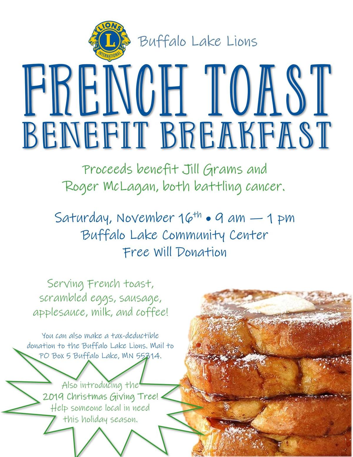 French Toast Benefit Breakfast