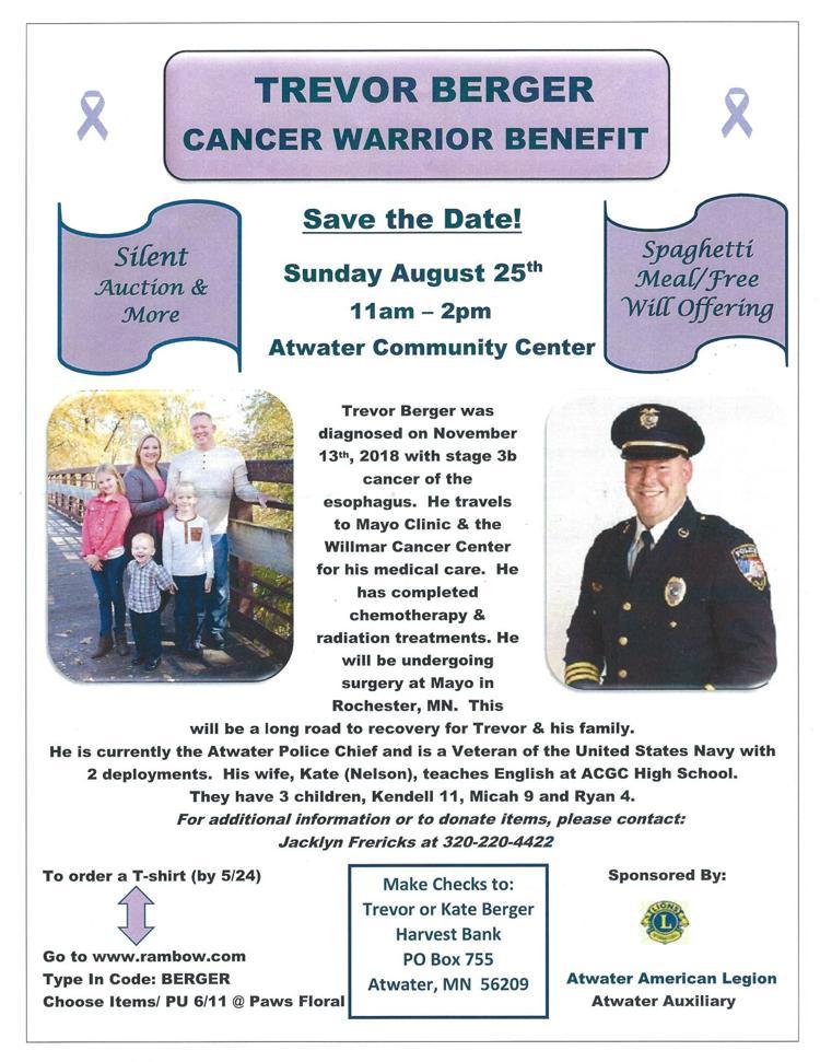 Trevor Berger Cancer Warrior Benefit
