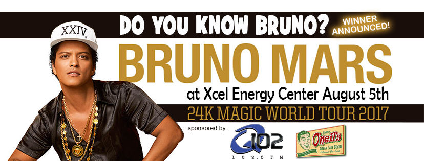 Our Bruno Mars ticket winner announced...