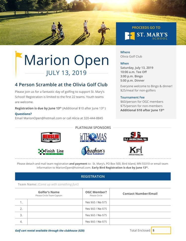 Marion Golf Scramble