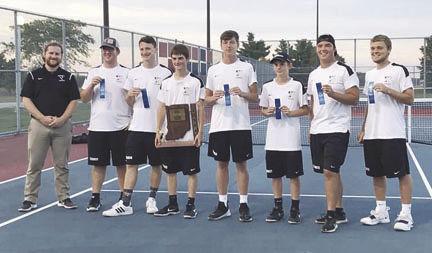 2019 Winchester Community High School championship tennis team