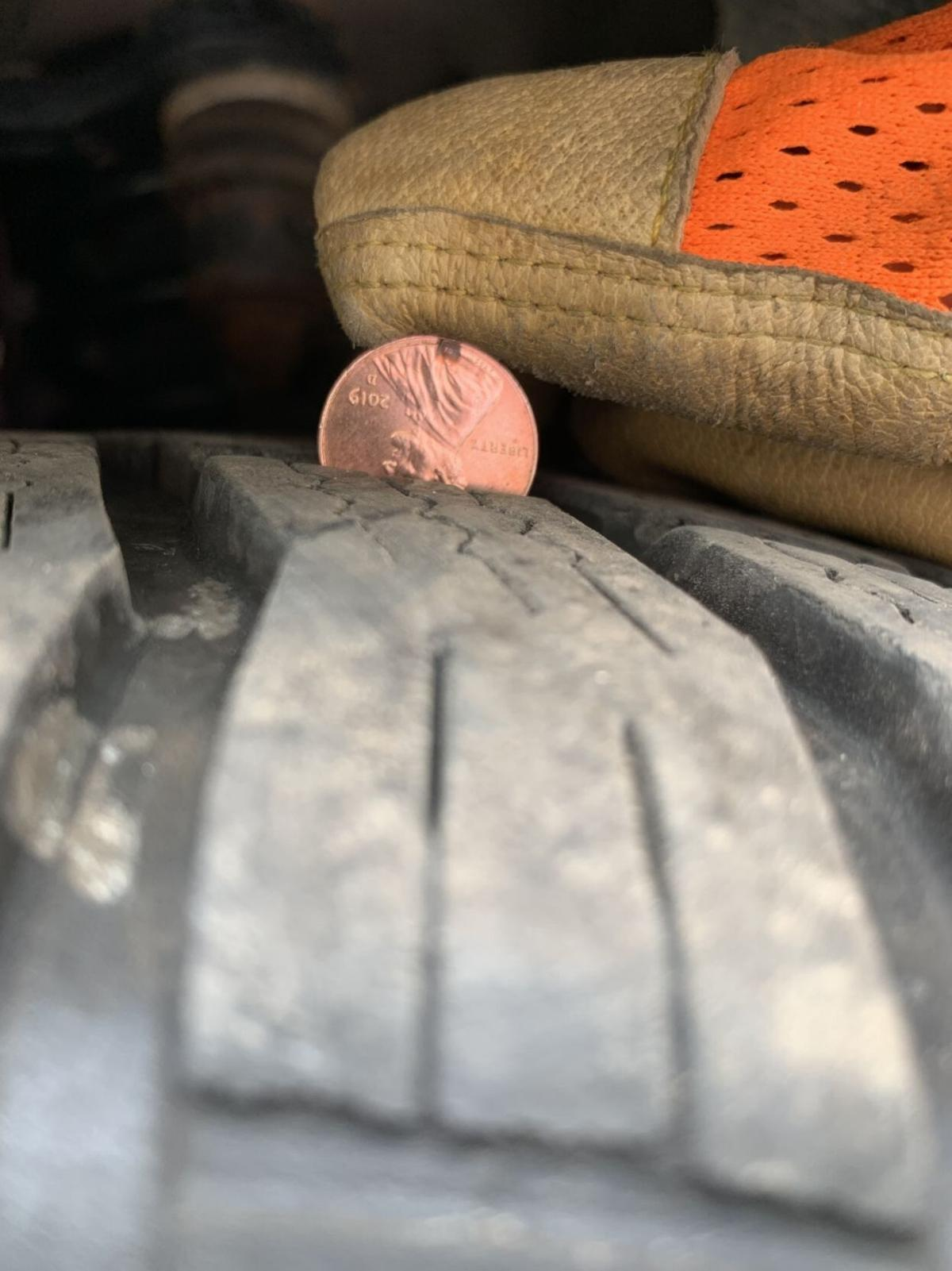 Old Abe, old tires