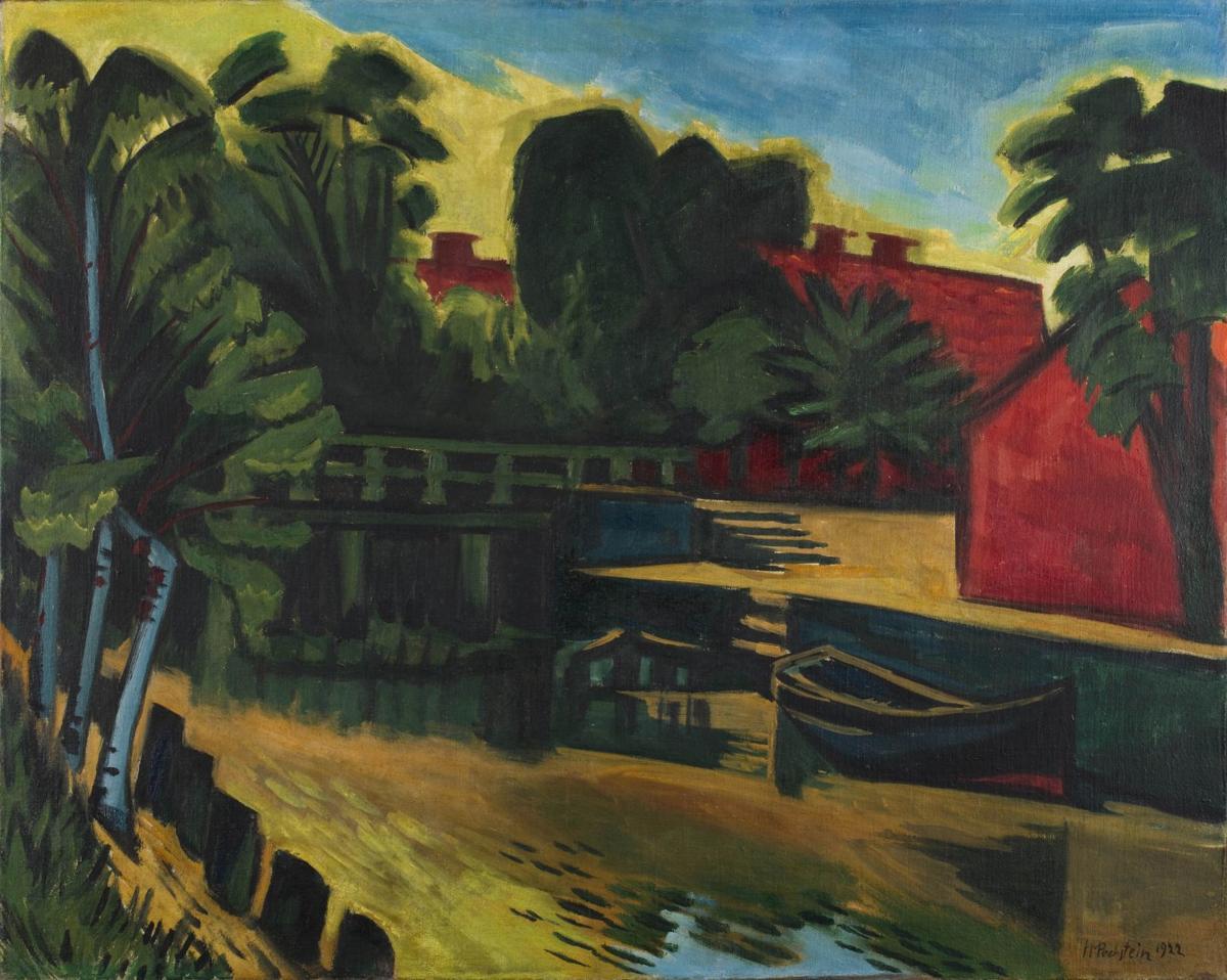 """Max Pechstein, """"Great Mill Ditch Bridge"""""""