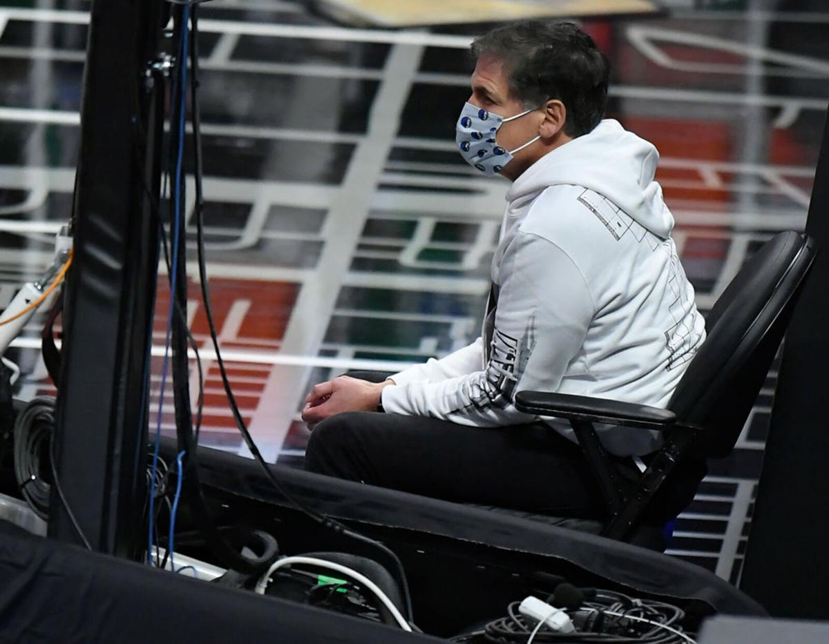 Mark Cuban, owner of the Dallas Mavericks, watches his team play the Los Angeles Clippers at Staples Center on December 27, 2020 in Los Angeles, California.