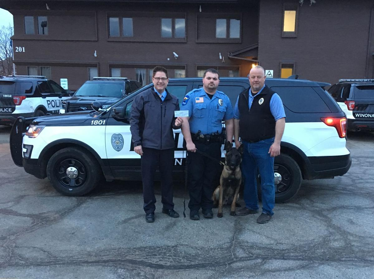 Crime Stopper Donation to the K9 Training Fund