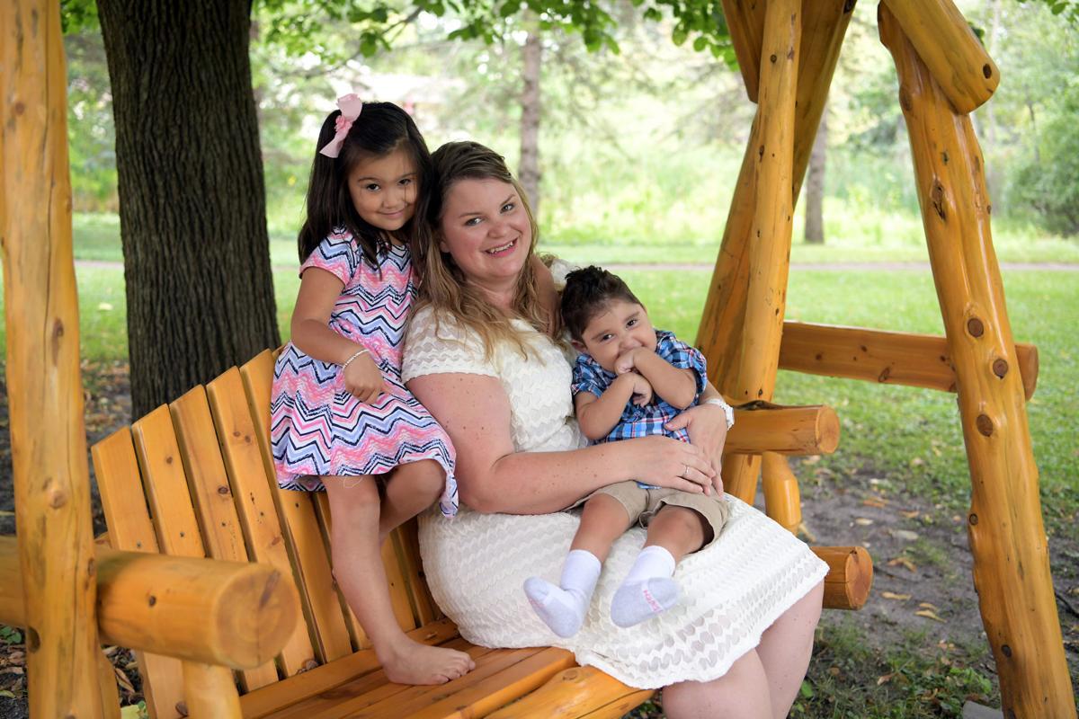 Amber and children