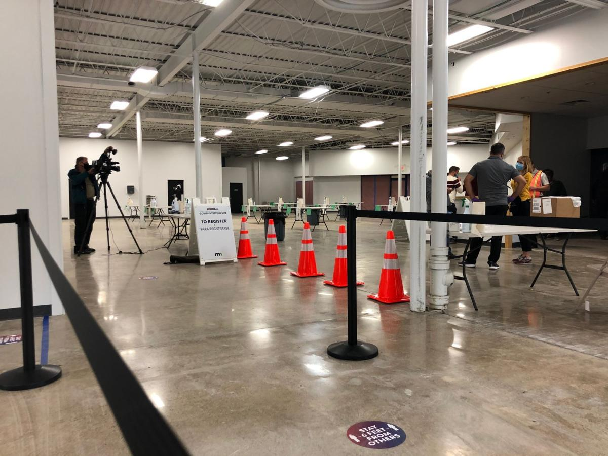 Inside the new COVID testing site at Winona Mall