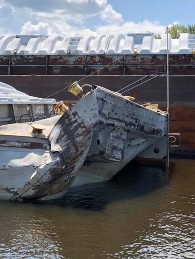Crumpled barge