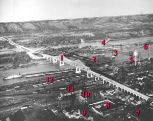 Winona Minnesota 1898 NEW Photo Historic Winona bridges over the Mississippi
