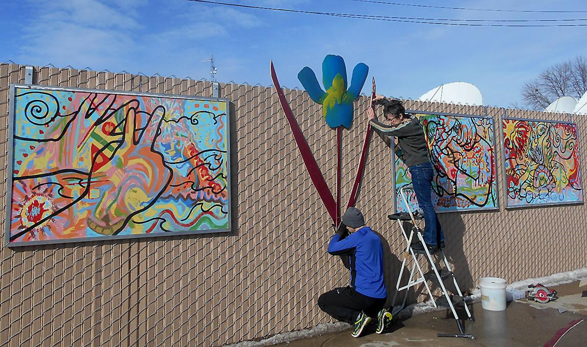 HBC Fence Art project continues work Entertainment