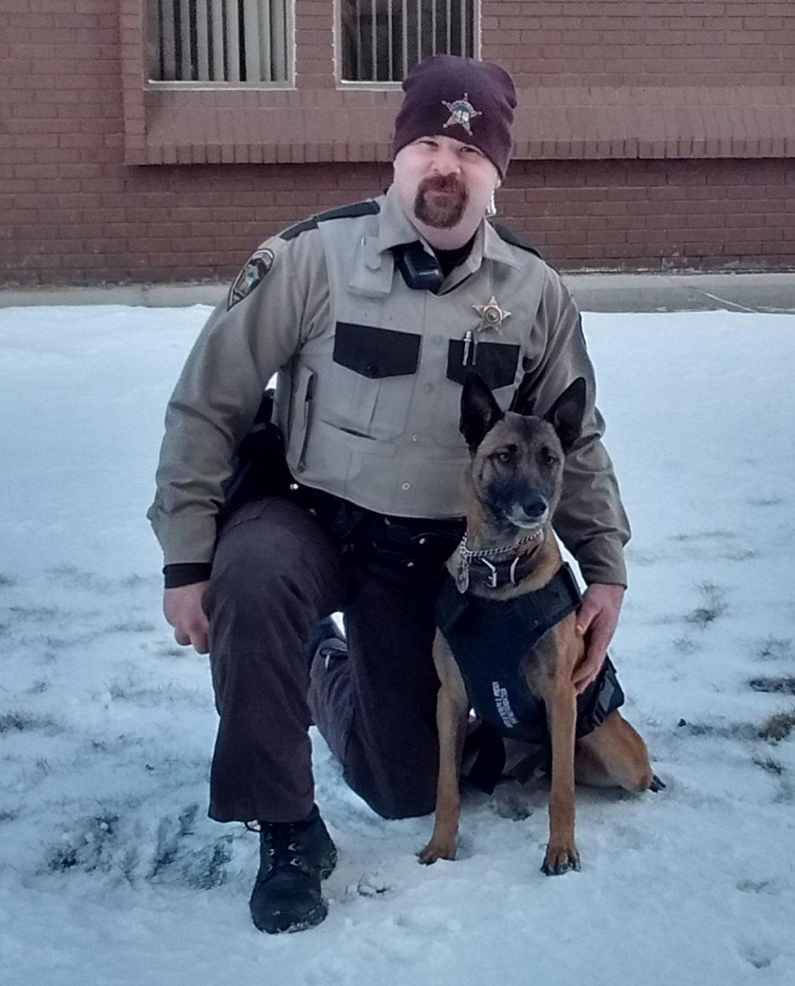 Deputy Adam Carlson and K-9 Cleo