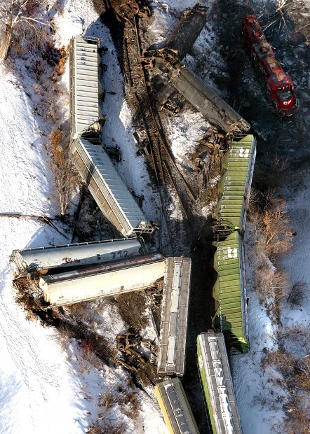 Overhead view of wreck