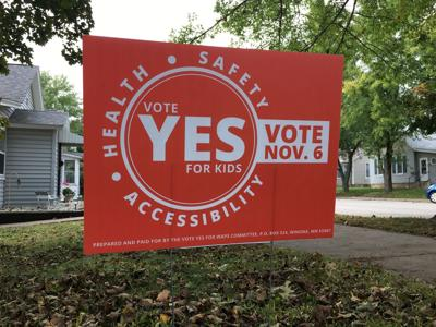 Vote Yes committee yard sign