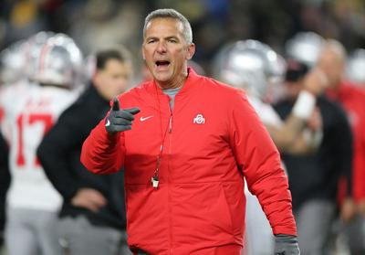 Ohio State head coach Urban Meyer on the sidelines against Purdue on October 20, 2018, at Ross-Ade Stadium in West Lafayette, Ind.