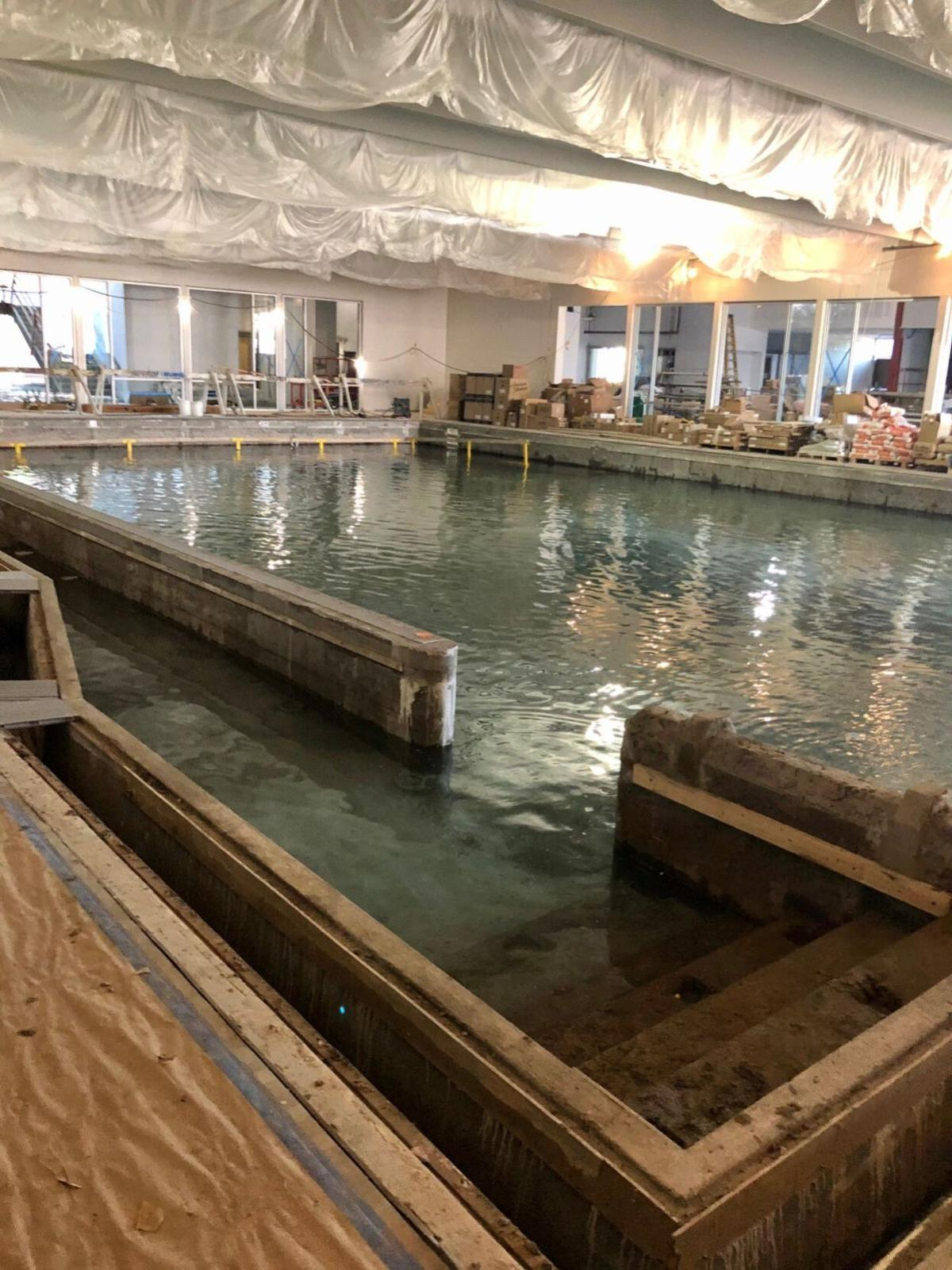 New Winona Family YMCA pool under construction (Oct. 2020)