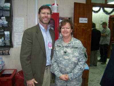 Colonel MJ Hull with Ron Kind