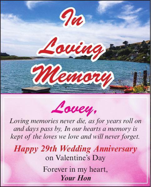 In Loving Memory Paetzel