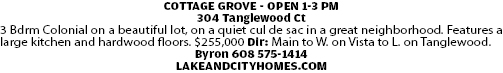COTTAGE GROVE - OPEN 1-3 PM