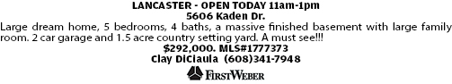 LANCASTER - OPEN TODAY