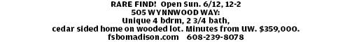 RARE FIND! Open Sun. 6/12, 12-2 505 WYNNWOOD WAY: Unique