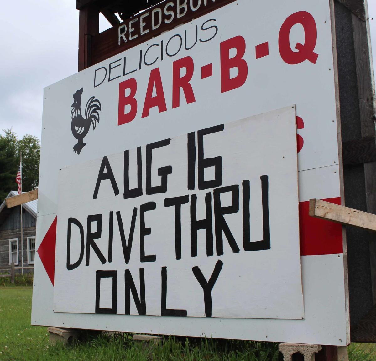 Reedsburg Chicken BBQ sign