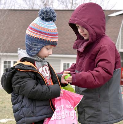 Sharing is caring in egg hunt