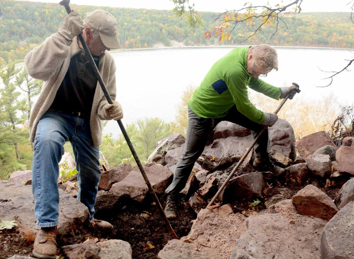 Climbers help reroute Devil's Lake trail (copy)
